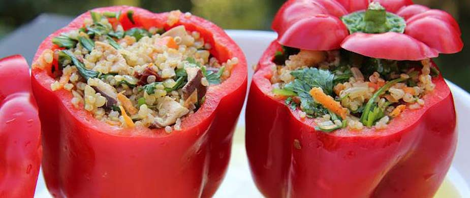 Stuffed Red Pepper's