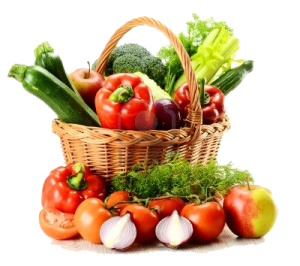Basket of Mixed Vegetables