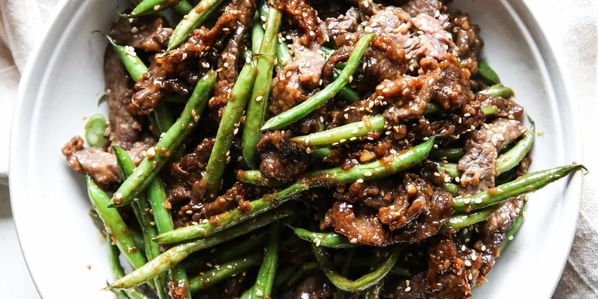 Ginger Beef and Greenbeans