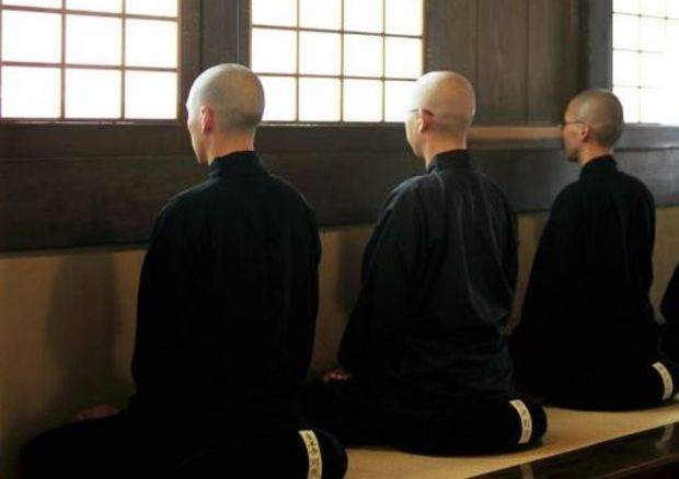 Three Zen Monks Meditating