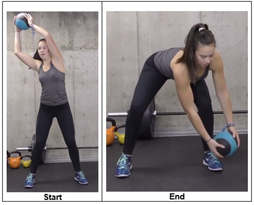 Medicine Ball High Low Chop Exercise