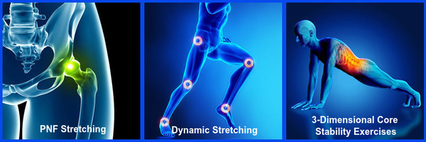 PNF Stretching and Dynamic Stretching and Core Stability Exercises