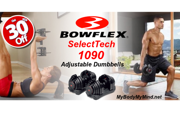 Bowflex SelectTech 1090 Adjustable Dumbbells 30% OFF!
