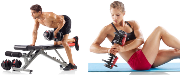 Bowflex SelectTech 552 Adjustable Dumbbell Many Uses