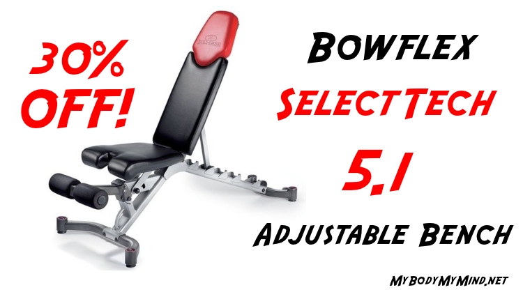Bowflex SelectTech 5.1 Adjustable Bench Save Over 30% Today