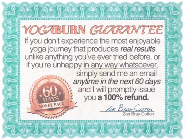 The Yoga Burn Guarantee